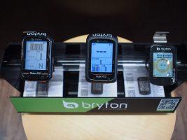 Bryton GPSサイクルコンピュータのデモ機あります!